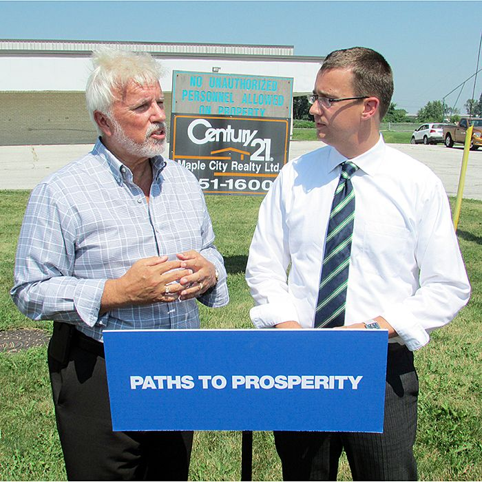 Local MPPs Rick Nicholls and Monte McNaughton talk about Ontario's loss of manufacturing jobs over the past decade.