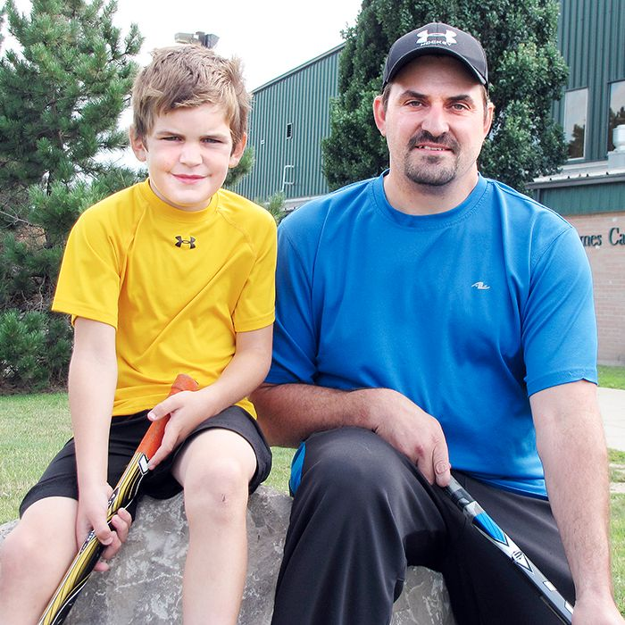 Ethan and Craig Savard are inviting kids to play in their hockey tournament Aug. 25. Ethan's 3-on-3 Play for Tomorrow is raising money to help other children play hockey.