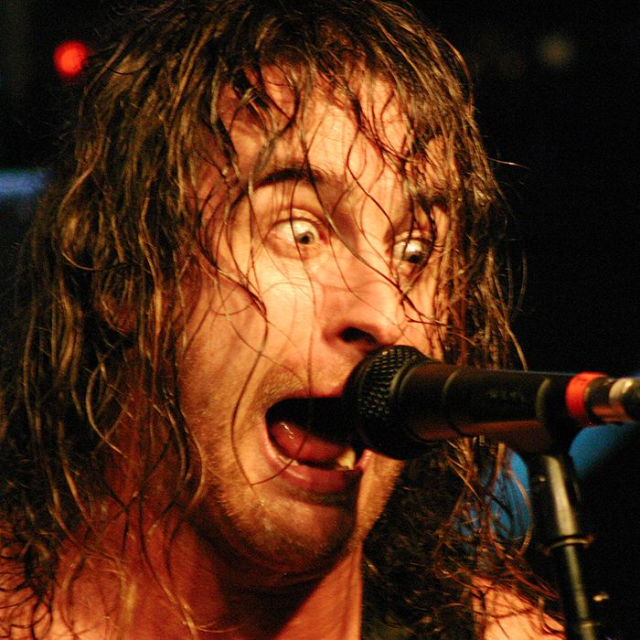 Airbourne front man Joel O'Keeffe belts it out at Encore Bar and Nightspot in Chatham on Aug. 14.
