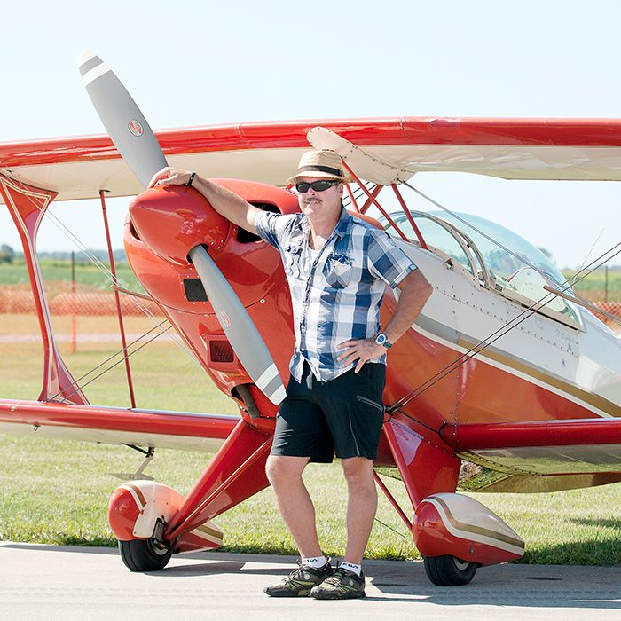 Desmond Lightbody  from Oshawa waits for his turn to compete in the 2013 Upper Canada Open Aerobatics Contest Aug. 24.