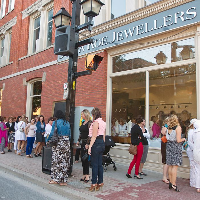 The lineup to get into Sonya Roe Jewellers stretched down the block during the Fashion and The City event on Sept. 5. Cupcakes and earrings were just a couple examples of the gifts given out, in addition to many others up for grabs in the various businesses downtown.