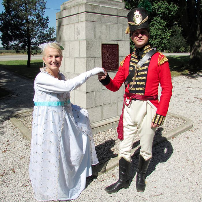 Linda Corrente, a member of the Ball at the Forks committee, and Battle of the Thames chairman Mark Dickerson will be in full period costumes for the ball at the Armoury Oct. 5, which takes place after the battle re-enactment earlier in the day on Longwoods Road. Tickets to the ball are still available.