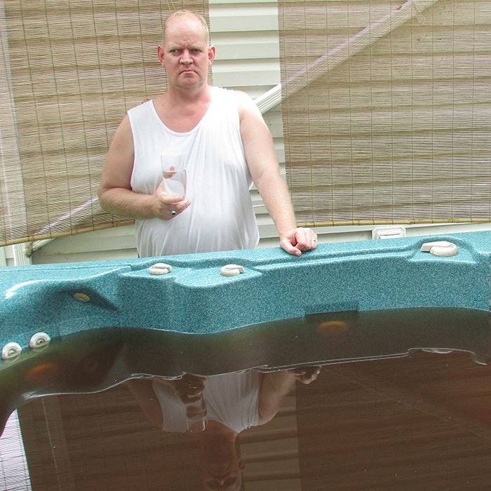 how to clean the slime out of hot tub