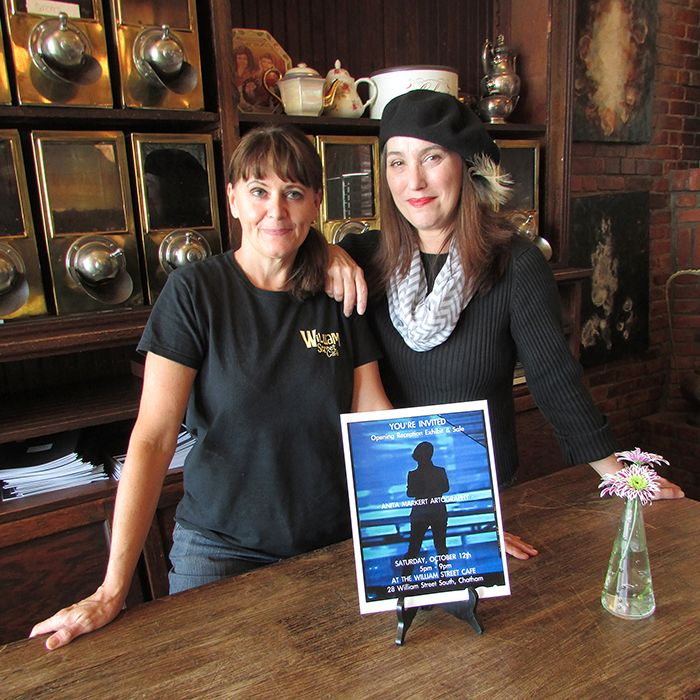 William Street Cafe owner Susan Jeffrey, left, is showcasing the work of Anita Markert from Oct. 12 to the end of the month. Jeffrey is a strong proponent of the arts in Chatham-Kent.