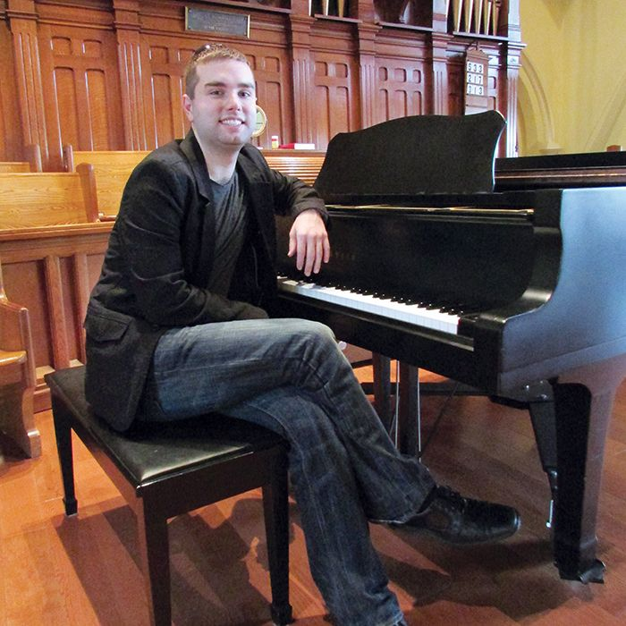 Devon Hansen, music director at St. Andrew's Church in Chatham, is to play Carnegie Hall in February. He and singer Lynda Charese Wood are performing the music for that concert on Saturday at St. Andrew's.
