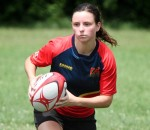 Sydnee Nolan, shown with the Kent Havoc Rugby club. Chris Marvell photo
