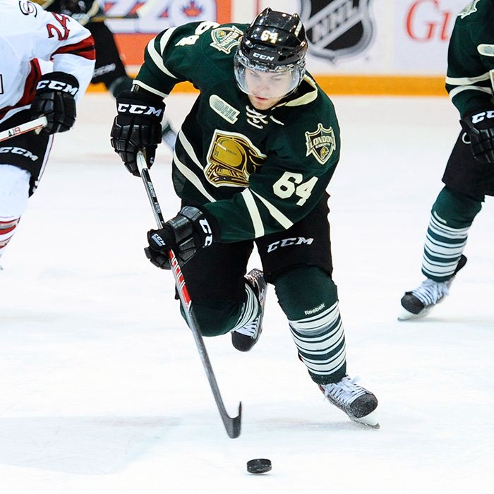 Ryan Rupert of the London Knights. Photo by Aaron Bell/OHL Images