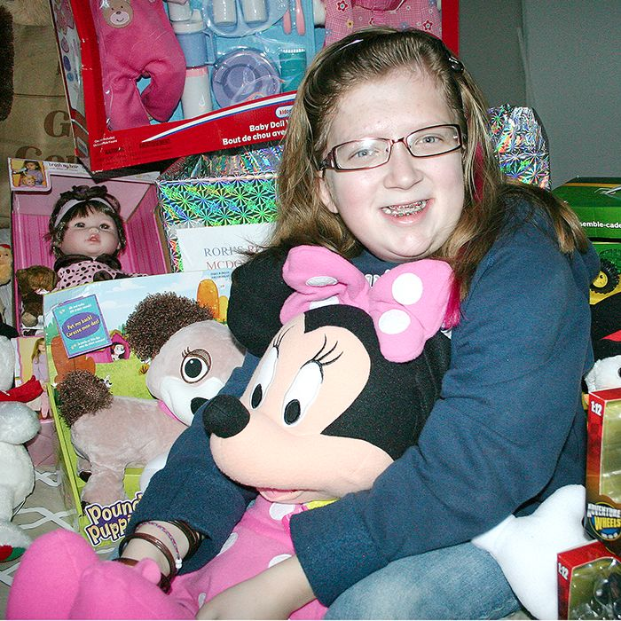 Wallaceburg resident Rori Bennett, 9, gathered 50 toys recently to be donated to the Ronald McDonald house in London.