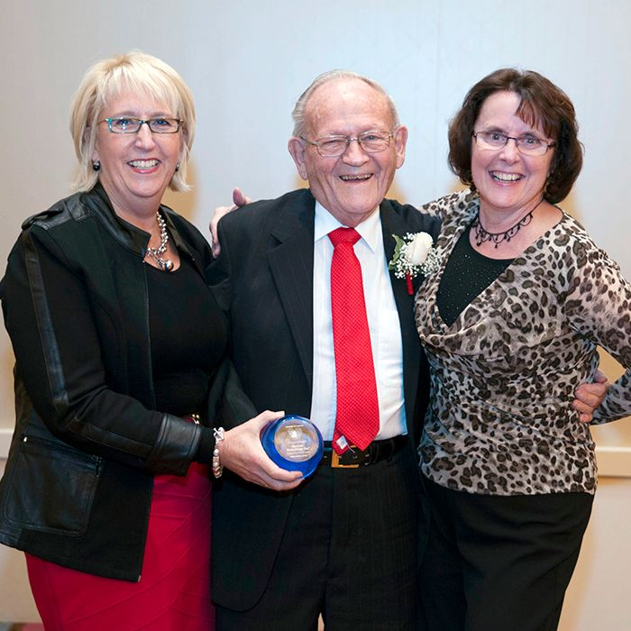 From left, Michele Grzebien-Huckson, executive director, Foundation of CKHA; Frank Uniac; and Sandra Denomey, chair, board of directors, Foundation of CKHA.