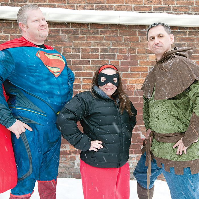 "Co-ordinators Tim Stoffyn, left, Kristina Garant and Chris Bullard are excited to organize a day filled with board games, card game tournaments and cosplay at their C-K ""Cause"" Play event on March 15. Proceeds from the event will go to The Lung Association."