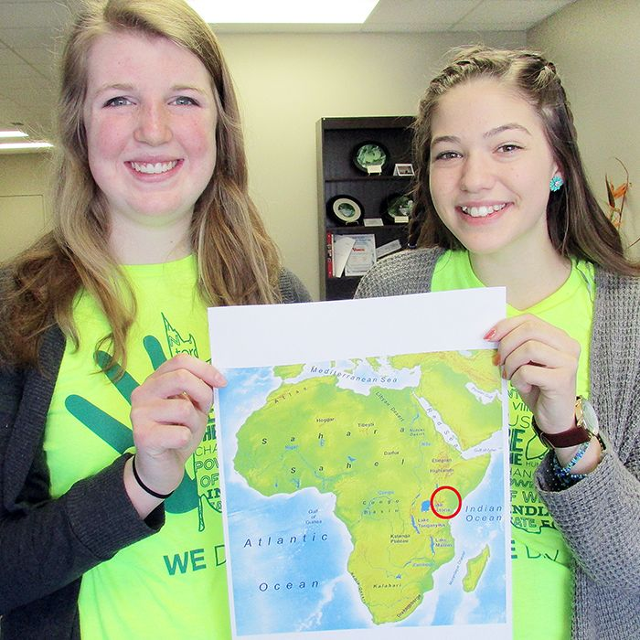 Emily Hiltz and Kaila Broadbent, two Grade 10 students at Ursuline College Chatham, will take part in the Me to We program this summer, sending them to Kenya.