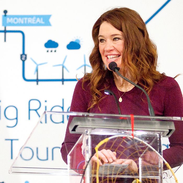Six-time Olympic medalist Clara Hughes made a stop at the John D. Bradley Convention Centre in Chatham on Sunday evening as part of Bell Let's Talk's Clara's Big Ride initiative to continue the discussion around mental health. Hughes, opened up about her own personal battles with clinical depression and hopes her 12,000 km journey cycling across Canada will connect Canadians on the journey to erasing stigma.