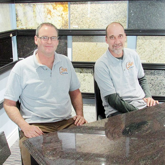 Brad Goldsmith and Kevin Deacon, owners of Southwest Granite and Glass, are preparing to grow. The company plans to quadruple the size of its fabrication facility to keep up with demand.