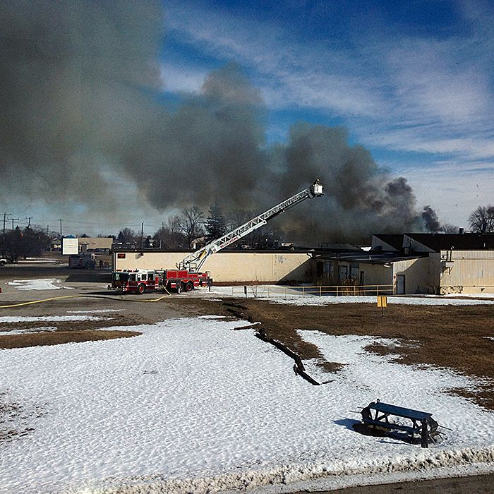 H&b Photo fire at h&b building in wallaceburg | chatham voice