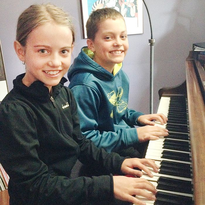 Olivia and Brandon Hunter practice piano in the days leading up to the start of the annual Kiwanis Music Festival. Their mother, Jennifer Trinca, took part in the festival when she was young, went on to study music in university, and teaches it today with the St. Clair Catholic District School Board.