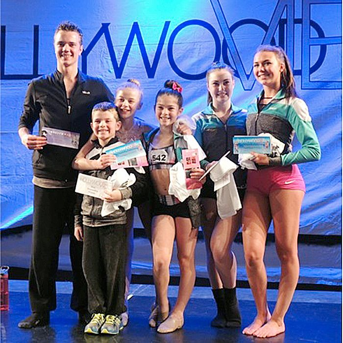 PURE dancers competed recently in a competition in Cleveland. Scholarship winners, from left, are Micah Enzlin, Carter Pittuck, Larissa Bedford, Lauren Pittuck, Gracie Hodgson, and Hunter Willmore.