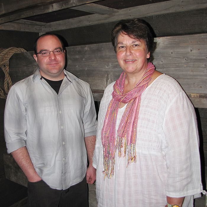 Chris Davidson and Karen Robinet stand in front of a new exhibit they designed for the Buxton National Historic Site and Museum. The life-size, three-berth slave ship feature depicts the confinement and harsh conditions Africans had to endure. The exhibit is one part of the Culture Room at the museum that has been re-designed. The new features will help museum staff explain black history in a new format and enhance the visitor experience at the site.