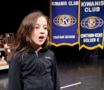 Vocalist Maria Whittal, daughter of Kiwanis Music Festival alumni Rachel Schwarz, rehearses a musical theatre solo for the 69th Grand Concert at the Kiwanis Theatre on April 22, 2014.