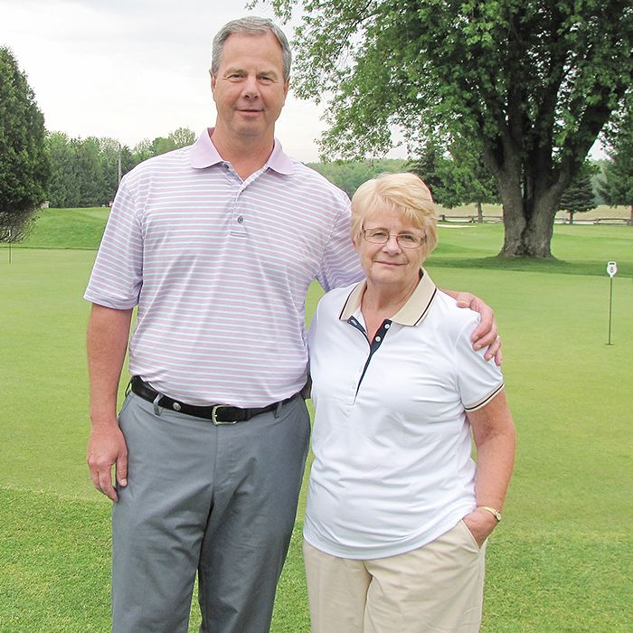 John Dengel, club pro and general manager, and Donna Teasdale are encouraging people to come out and watch the Investors Group Ontario Junior Girls Championships at Maple City Country Club. Maple City is hosting the provincial championships July 15-18. The event is free to the public.