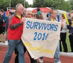 Survivors take their victory lap at the 2014 Chatham Relay For Life event at CKSS. Next year, Wallaceburg's Relay will come back into the mix at this location, and the event will take place from noon to midnight on the Saturday.