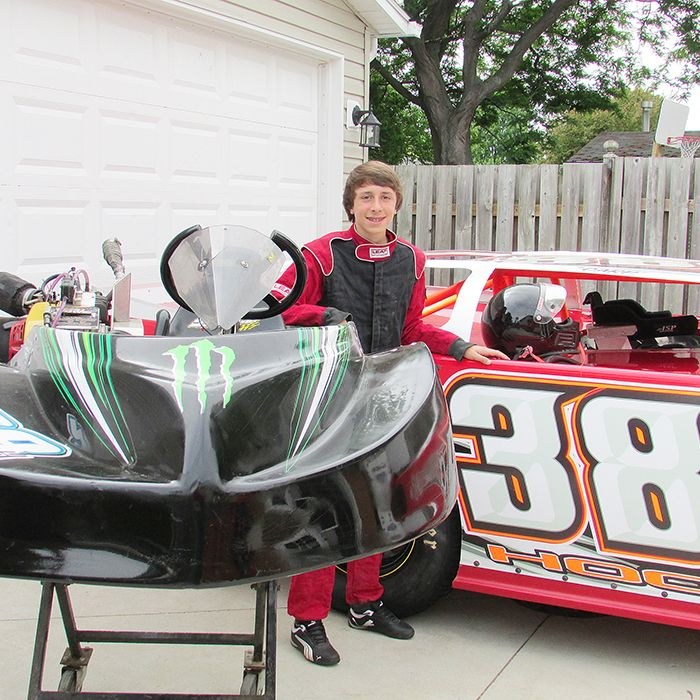 Jake Hooker, 13, is making the transition from go-kart to stock car as he is now racing at South Buxton Speedway, the same place his dad, Kirk, spent so many Saturday nights earning checkered flags.