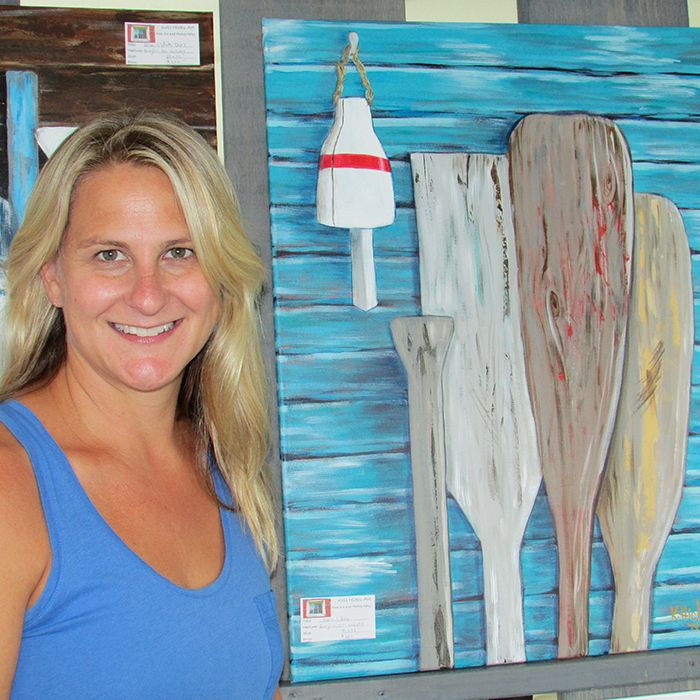 Kris Hicks of Kris Hicks Art in London displayed her love of rustic and natural elements with paintings and photographs like this one that was a hit in the beach community of Erieau.