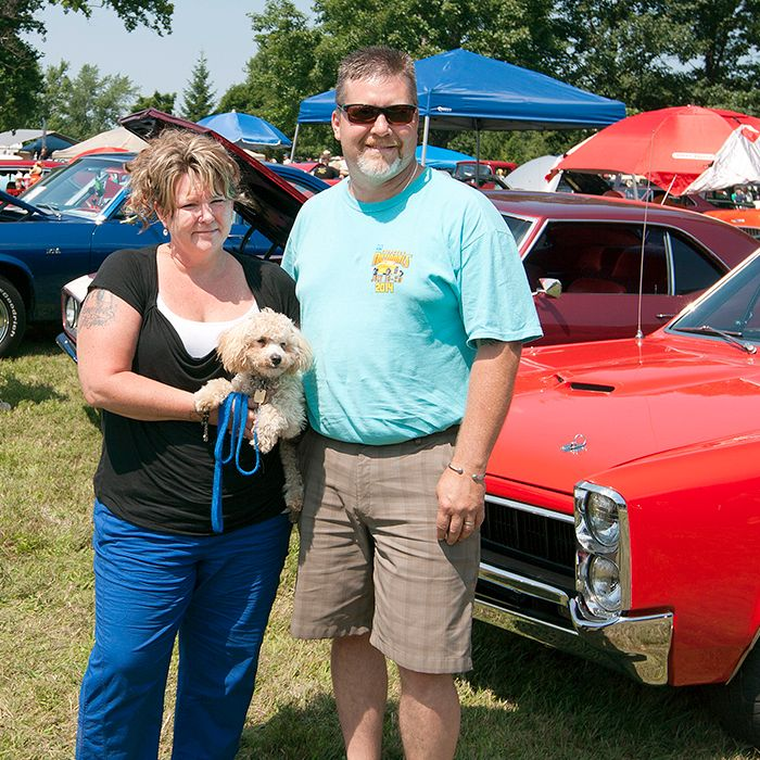 Lisa and Rod Rollings from London, Ontario joined more than 1,100 other car owners on Saturday and showcased their 1967 Pontiac Lemans at the Old Autos Car Show in Bothwell.