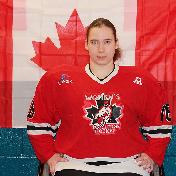 Chatham's Ashley Goure has been on the Canadian women's sledge hockey team since it was founded in 2006. She dreams of playing in the 2018 Paralympic Games, when women's sledge hockey is to be introduced as a demonstration sport.