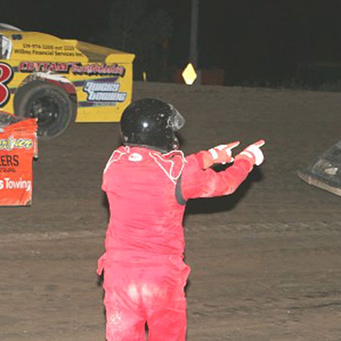 Scenes such as this Tirecraft Sport Stocks feature from earlier this season, with a driver out of his car pointing at another competitor after an accident, will not be tolerated and guilty parties will face more severe penalties as South Buxton Raceway has enhanced its safety rules in the wake of Kevin Ward Jr.'s tragic death.