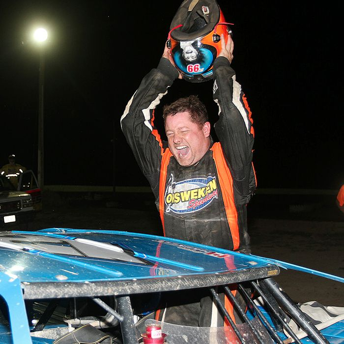 Gregg Haskell celebrates his dramatic win on the weekend. (James MacDonald ApexOne Photo)