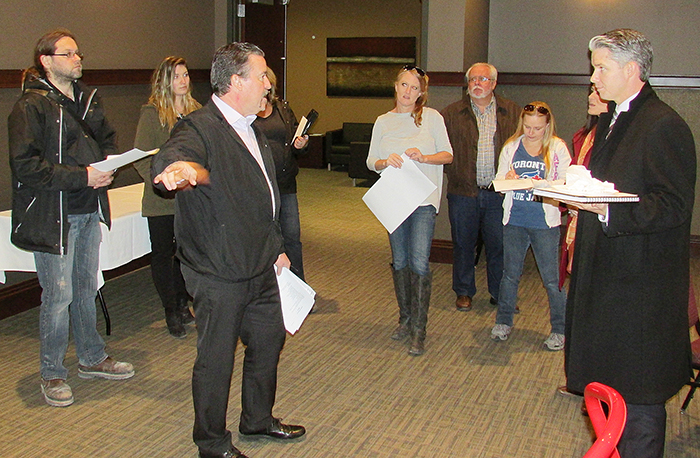 Members of the 2015 Festival of Giving committee toured the John D. Bradley Convention Centre Friday in preparation for the April 18 event.