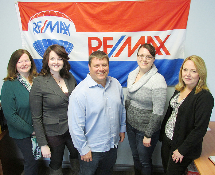 Re/Max Chatham-Kent Realty has expanded to Tilbury. Left to right are Peggy Van Veen, Laura Van Veen, Rocky Gaudrault, Laura Tourangeau and Deb Moysiuk.
