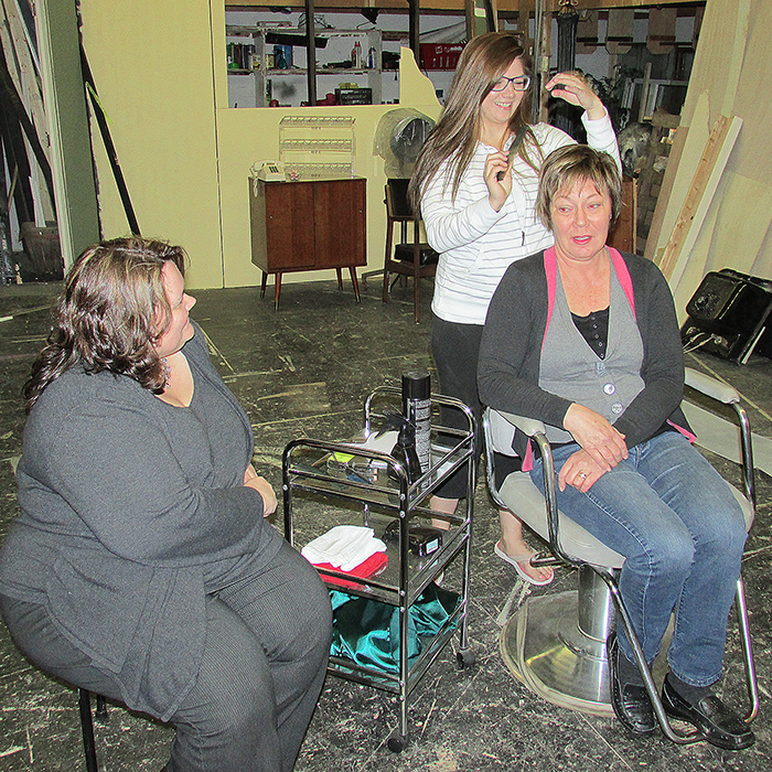 Theatre Kent's final production of the season, Steel Magnolias, will be held May 7-9 in the Kiwanis Theatre at the Chatham Cultural Centre. Here Robyn Brady, Courtney Wells and Louise Stallaert rehearse a scene in Truvy's Beauty Salon.