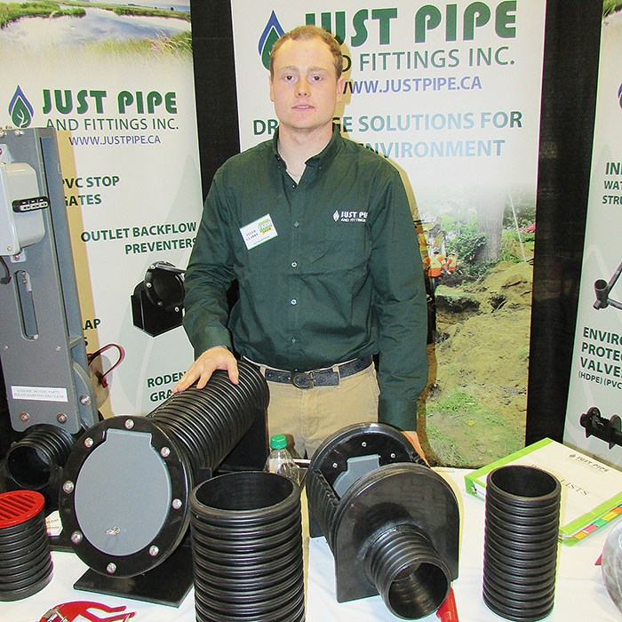 Just Pipe's Tyler Clarke showcases some of what the company offers to rural landowners in terms of improved drainage.