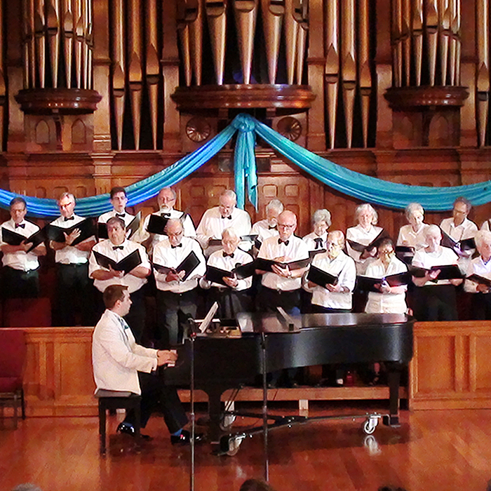 St. Andrew's Choir, including guest soloists, perform during the Saturdays at 7 music series at the church. The popular program will be returning in the fall. The church is also collaborating with the Windsor Symphony Orchestra that will perform twice in Chatham later this year. (Contributed image)
