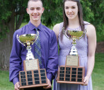 Lee Kucera and Bridget Carleton earned the Dr. Jack Parry Awards this year, as top student-athletes in Chatham-Kent.
