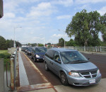 Traffic flows across the Parry Bridge on Keil Drive in Chatham.