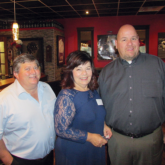 The Community Futures Development Corporation of Chatham-Kent held its annual meeting last week. The federally funded organization has loaned nearly $700,000 and helped attract and retain more than 150 jobs. Here, outgoing chair Pat Weaver, Executive Director Carol Emery and incoming chair Shawn Bustin are seen after the meeting.