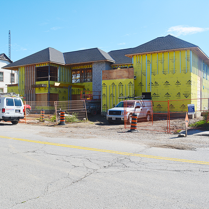 Construction continues at the Chatham-Kent Hospice on the property of the st. Andrew's community in Chatham. Hospice officials announced this week they are close to filling their $200,000 hope chest. Those donated funds will help turn a building into a home.