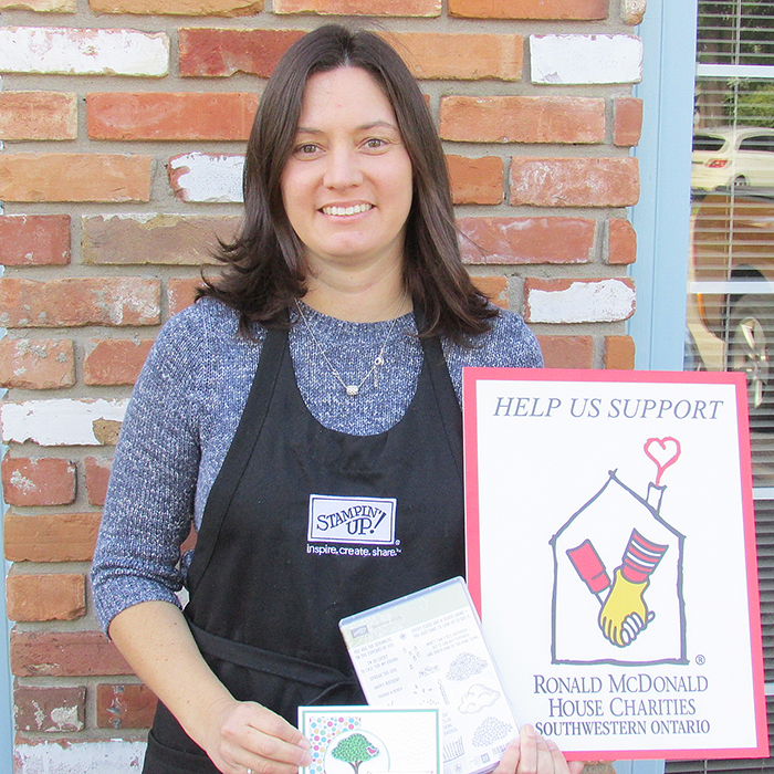 Amy Dumoulin-Jerome is one of nine Stampin' Up demonstrators who will be producing unique cards in a fundraising event to benefit Ronald McDonald House Charities Oct. 17.