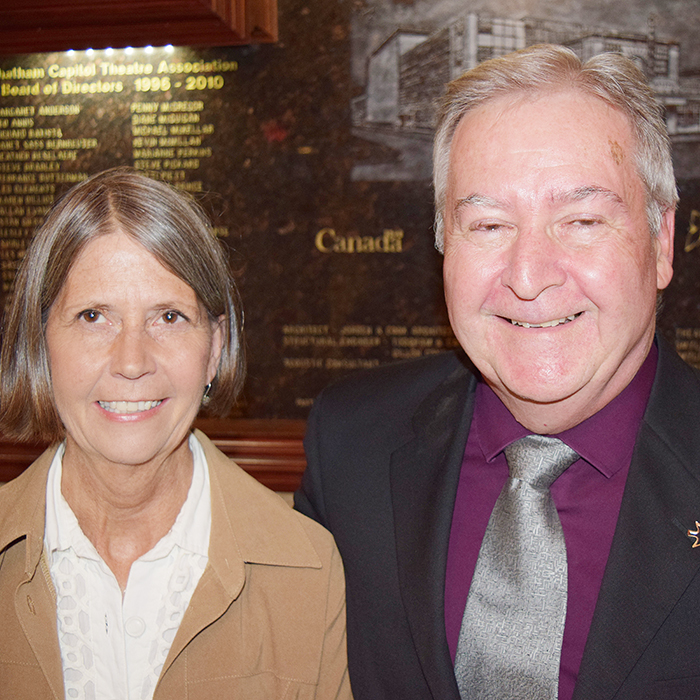 Municipal employees and siblings Ann Gore and Robert Finlin celebrated their 30 years of service together.