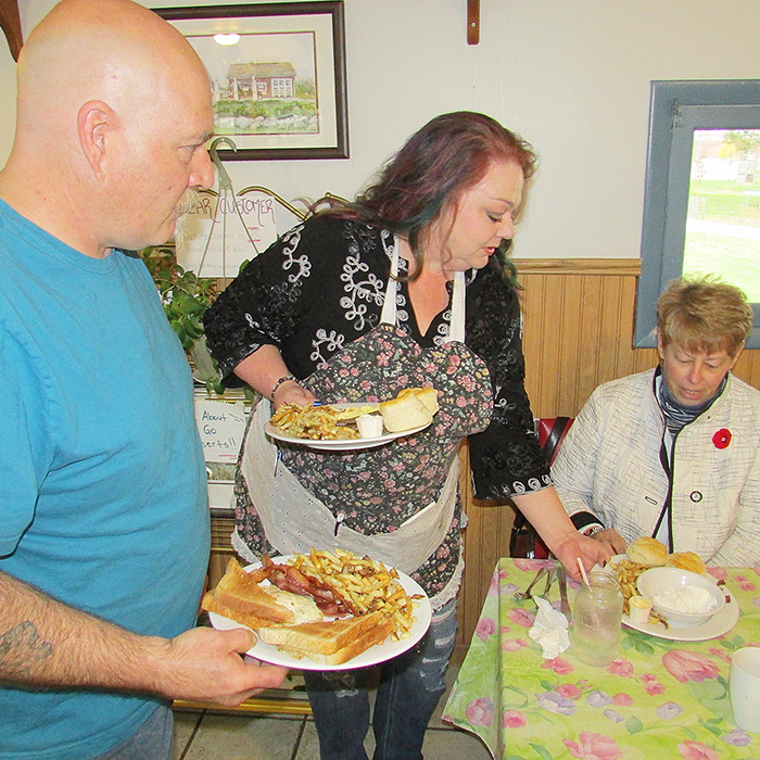 Mike and Alecia Durocher, owners of Comfort & Soul restaurant on Talbot Trail in Cedar Springs, serve up down-home cooking to their customers.