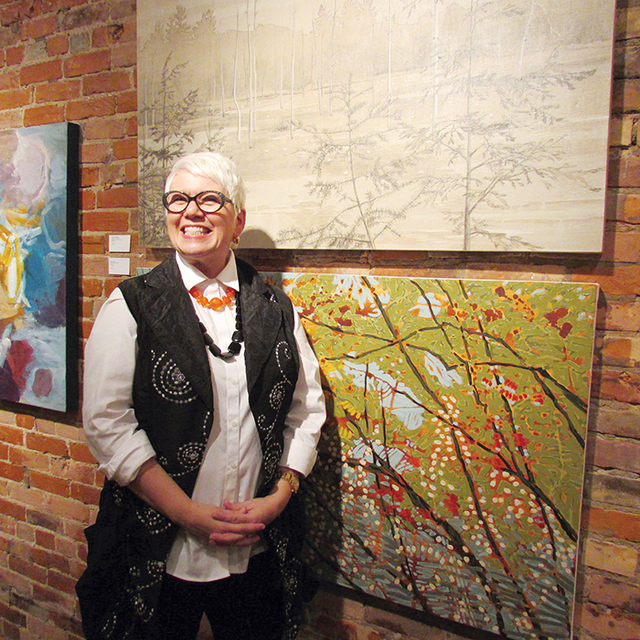 Laurie Langford hosted the annual exhibiting members exhibition at ARTspace on King Street recently. Langford is the incoming chair of the facility's advisory board.
