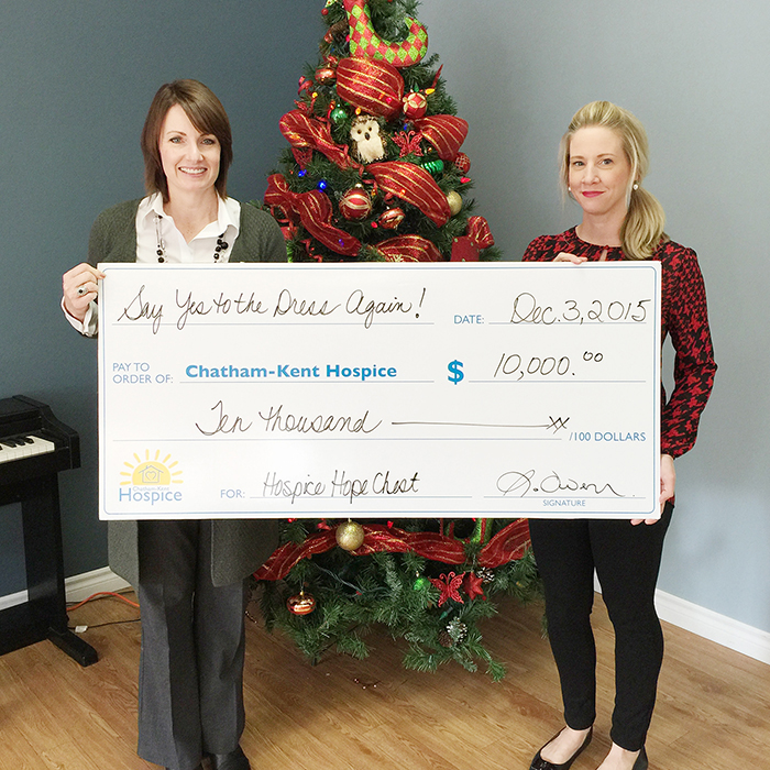 to jodi maroney director of development for the chatham kent hospice
