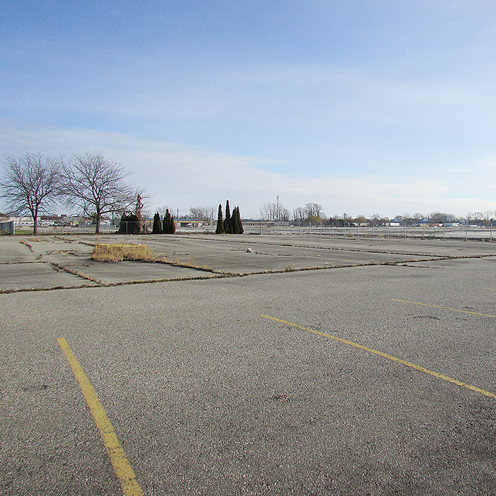 The site of the former Navistar plant on Richmond Street in Chatham sits flattened and abandoned