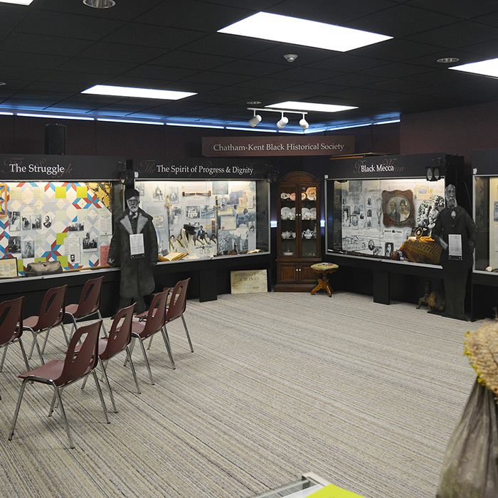 The Chatham-Kent Black Historical Society inside the W.I.S.H Centre in Chatham.