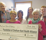 The Chatham May Court Club recently donated $8,000 to the Foundation of the Chatham-Kent Health Alliance to be used in youth mental health programming.