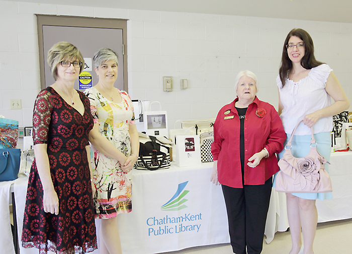 From left, Liz Fields, Tania Sharp, Hilary Henley and Wanda Bell are seen here at the third annual Purses with a Purpose fundraiser on the weekend.