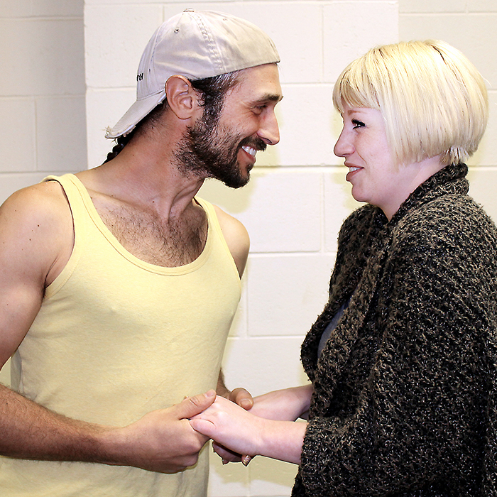 Alejandro Pacheco (Henry Spoffard III) and Tori Franks (Lorelei) are seen during a rehearsal for Theatre Kent's production of Gentlemen Prefer Blondes, which runs at the Kiwanis Theatre May 12 to 14.