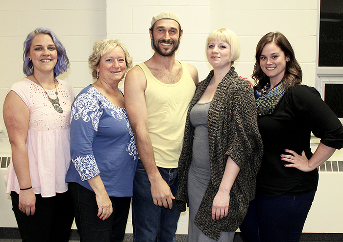 Cast members for Theatre Kent's production of Gentlemen Prefer Blondes include (left to right): Crystal Horst, Jan Walker-Holt, Alejandro Pacheco, Tori Franks and Stacie (Suitor) Dengal. The show runs at the Kiwanis Theatre from May 12 to 14.